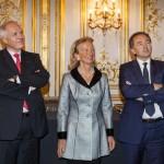 Jean-Luc Fournier, Président de France-Amériques, Hélène de Rochefort, Secrétaire de France-Amériques, et Gilles Kepel