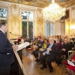 Le Président de France-Amériques, Alfred Siefer-Gaillardin ouvre la cérémonie de remise des prix littéraires