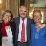 Mme Brigitte Longuet, Présidente de la Fédération des Femmes Administrateurs, M. Jean-Luc Fournier, Président de France-Amériques, et Mme Hélène de Rochefort, Secrétaire Générale de France-Amériques