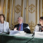 Mme Dominique de La Garanderie – Ancien Bâtonnier de Paris, Membre du Haut Comité au Gouvernement d'Entreprise, M. François David, Président d'honneur de la COFACE, et Mme Viviane de Beaufort, Professeur à l'ESSEC