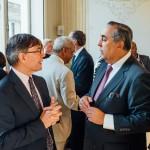 S.Exc. M. Federico Renjifo Vélez, Ambassadeur de Colombie en France (à droite) et M. Pierre-Jean Vandoorne, Président de la Section Amérique latine et Caraïbes de France-Amériques