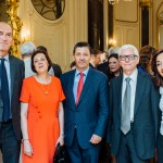 De gauche à droite : M. Stéphane Witkowski, Président de l'IHEAL, S. Exc. Mme Maria de la Paz Donoso Castellon, Ambassadeur de l'Equateur en France, M. Carlos Quenan, Vice-Président de l'Institut des Amériques , S. Exc. M. Jean-Marc Laforêt, Ambassadeur de France en Colombie, et S. Exc. Mme Maria del Carmen Squeff, Ambassadeur d'Argentine en France
