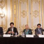 De g. à d. : Michel Kempiski, Dr. Angel Melguizo, SE Mme Marcia Covarrubias, Ambassadeure du Chili en France, et Philippe Farge