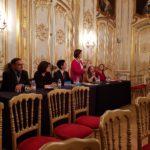 Membre du Jury  (de g. à d) : Emmanuel NOMMICK, Claudine MELLON, Nathalie BERA-TAGRINE, Véronique BONNECAZE et Jany CAMPELLO