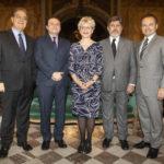 De g. à dr. : Octávio de BARROS, Gaspard ESTRADA, Ambassadeure Geneviève des RIVIERES, S.E.M. Paulo de OLIVEIRA CAMPOS, et Charles-Henry CHENUT