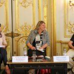 De g. à d. : Nada Nadif, Marie-Pascale Chague et Enguerrand Habran
