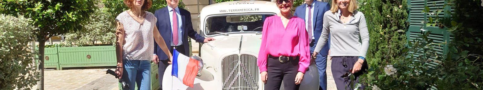 Geneviève des Rivières - Fanny Adam - Jacques-Henri Citroën - Aubin Gonzalez Lapos à France-Amériques